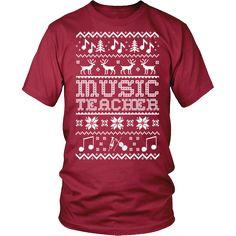 Music Teacher - Ugly Sweater