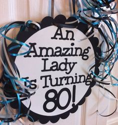 80th birthday party ideas | 80th Birthday Party Decorations Giant Personalized Party ... | Birth ...