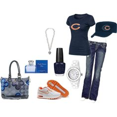 Chicago Bears, created by krystatarman on Polyvore