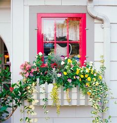 Love the old-fashioned appeal of this window box. More window box ideas: http://www.midwestliving.com/garden/container/18-bright-and-beautiful-window-box-planters/page/2/0