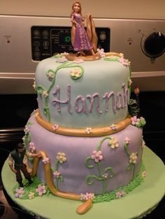 rapunzel birthday cake design 768x1024 Rapunzel Birthday Cake