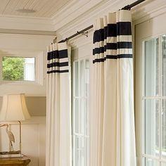 Black banding :: window treatment