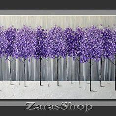 Original Modern Art 36x18 Textured from ZarasShop on Etsy | ART