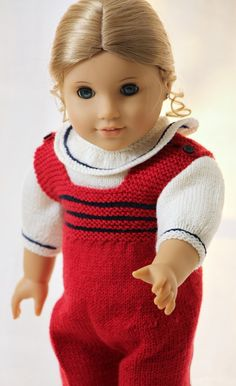 Free doll knitting patterns, free knitting patterns for 18 dolls