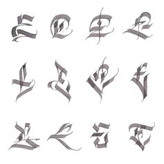 Cool looking lettering 1 Chicano Lettering, Tattoo Lettering Fonts, Graffiti Lettering, Lettering Styles, Lettering Design, Typography Fonts, Calligraphy Fonts Alphabet, Calligraphy Alphabet, Fonte Alphabet