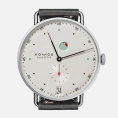 Metro watch designed by Mark Braun for fine watchmakers, Nomos Glashütte. #Watch #Timepiece #Fashion