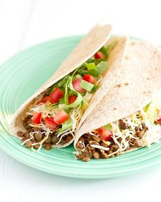 Vegan Lentil Tacos  (Sub whole grain or GF wraps).