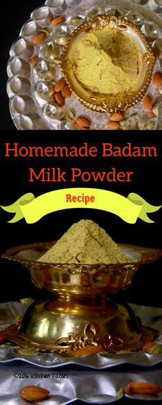 Recipe for Healthy Home Made Badam Milk Powder with minimal Sugar. Use it with milk or to flavour kulfi.