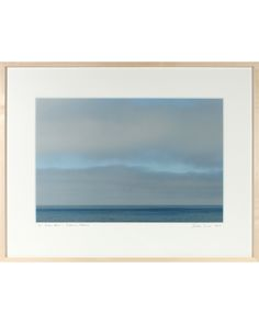 "Archival Print on Hahnemuhle Fine Art Pearl paper in a contemporary frame.  33"" x 25.5""  Origin: Mendocino, California  Condition: New.  Entitled ""Pacific Blues"" this 2014 archival print is by contemporary Mendocino/Bay Area artist, Gaetan Caron (b. 1964), co-founder of Lost Art Salon in San Francisco. Part of the fine art photography documentation of the artist's homestead in Mendocino, Northern California. Produced in a limited edition of seven and printed on archival Hahnemuhle Fine Art…"