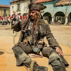 Pirates of the Caribben 5 - Jack Sparrow on the floor