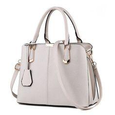 Luxury Medium Leather Office Lady Shoulder Bag 5b47b9da8283b