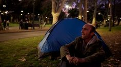 Rob Neville has been sleeping rough in Belmore Park for more than two months and has noticed an increase in homeless people in the park.