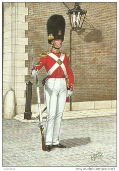 Scots Fusilier Guards, Colour Sergeant, 1832 by Bryan Foster Military Dresses, Military Uniforms, Military Art, Military Fashion, British Army Uniform, British Uniforms, Drum Major, Seven Years' War, Great British