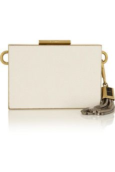 Lanvin Textured-leather clutch | NET-A-PORTER