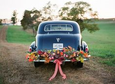 """images vintage convertible """"Just Married"""" sign ocean - Google Search"""