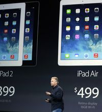 iPad Air Debuts                - The latest iPad has been unveiled.  Might be a bit pricey for me...