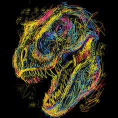 Kids Draw T-Rex is a T Shirt designed by Artemple to illustrate your life and is available at Design By Humans