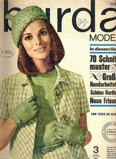 German Fashion Magazine:Burda Moden,March 1967.
