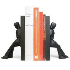Kikkerland Boekensteunen (set van 2) - Leaning Men
