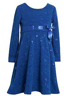Bonnie Jean® Royal Spangle Dress Girls 4-6x