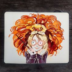A girl with a funny hat .: Luna Lovegood