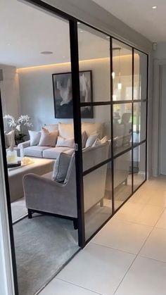 Basement Living Rooms, Living Room Furniture, Luxury Decor, Luxury Interior Design, Nordic Living Room, Scandinavian Architecture, Nordic Interior, Inside Design, House Design