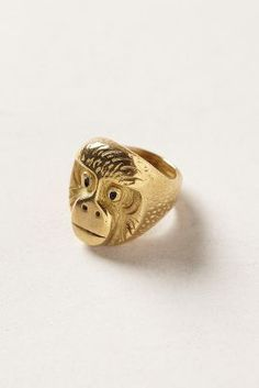 monkey cocktail ring by Circo.