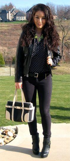 Bag: Bvlgari  -  Jacket: Michael Kors  -  Pants:  TJ Maxx