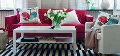 Μπορείτε να χρησιμοποιήσετε το κόκκινο χρώμα στους τοίχους ή σε κάποιο έπιπλο ή διακοσμητικό.