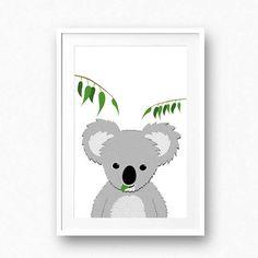 Koala poster Nursery wall art printable koala bear by CozyForest