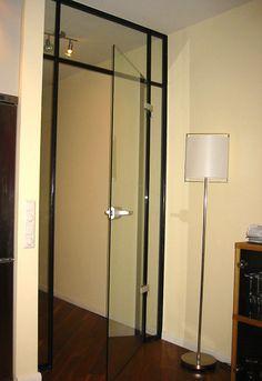 Glastür mit Stahlrahmen, pulverbeschichtet alpers-metallbau
