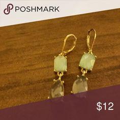 Earrings Light blue and dark blue stones in gold tone base. Really cute! dillards Jewelry Earrings