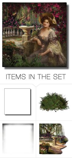 """Victorian Garden"" by ritadolce ❤ liked on Polyvore featuring art"