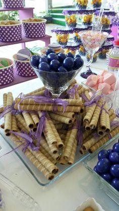 Rollos de chocolate globitozz decoracion, mesa de dulces