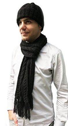 Handmade Alpaca and Wool Scarf and Hat Set Cable Design Knitted 100 by Hand ** To view further for this item, visit the image link. (This is an affiliate link) Winter Hats For Men, Outdoor Stuff, Wool Scarf, Cable, Image Link, Outdoors, Awesome, Check, Handmade
