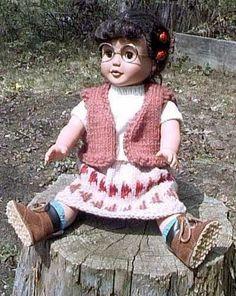 American Girl Western Skirt And Vest Knitting Pattern