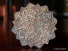Pottery Stamps, Indian Wood Stamp, Textile Stamp, Wood Blocks, Tjaps, Printing Stamp- Mandala