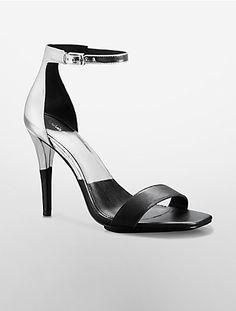 Image for shanti metallic colorblock sandal from Calvin Klein