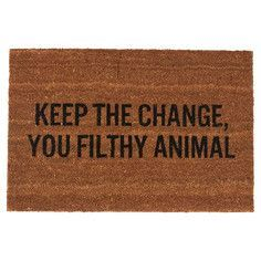 Funny door mat ~ From the movie 'Home Alone'.