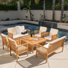 The Carolina 8-piece outdoor acacia sofa set offers all the benefits and style of an indoor sofa set with the durability to be kept outdoors. Entertain numerous guests at once with this contemporary sofa set.