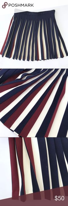 """Tommy Hilfiger   Pleated Red White Blue Skirt Adorable red, white & blue pleated skirt by Tommy Hilfiger.   Size 4; true to size. Please see measurements below if unsure 😄 ■ Waist: 15"""" ■ Length: 17""""  Condition: Pre-owned. Excellent condition.  ○ K8 Tommy Hilfiger Skirts"""