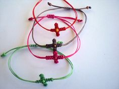 Items similar to Witness pin Martyrika bracelets Baptism favors Greek orthodox baptism Bracelet cross Macrame on Etsy Christening Favors, Baptism Favors, Baptism Gifts, Macrame Tutorial, Wild Ones, Projects To Try, Crosses, Bracelets, How To Make
