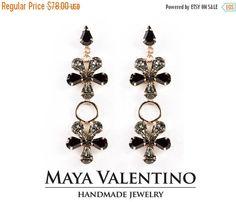 Swarovski Earrings  Flower Chandelier Rose gold by MayaValentino