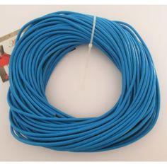 Cordón cuero azul 3 mm.