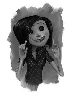 Beldam (Other Mother) - Coraline - Tim Burton Coraline Drawing, Coraline Movie, Coraline Jones, Other Mother Coraline, Coraline Aesthetic, Tim Burton Films, Other Mothers, Disney Fan Art, Stop Motion