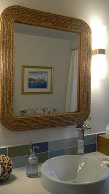 GRAY: DIY Nautical Rope Mirror
