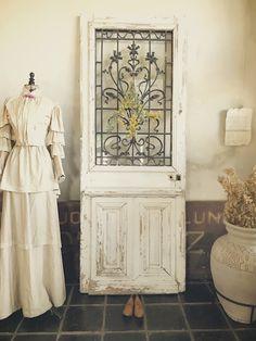 Antique grilled doorフレンチアンティークドア/パディントンホームデコレーション