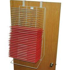 art wall drying rack school | Wall/Door Drying Rack - 30 Shelves 12 in x18 in , Preschool Art at $200+