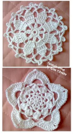 Scroll down the page and you will get many diagrams for lots hearts and flowers - crochet ? (google translatable).