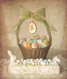 for easter cakes Cute Bunny and Easter Egg Spring Flower Easter grosgrain ribbon gift wrap cards and crafts